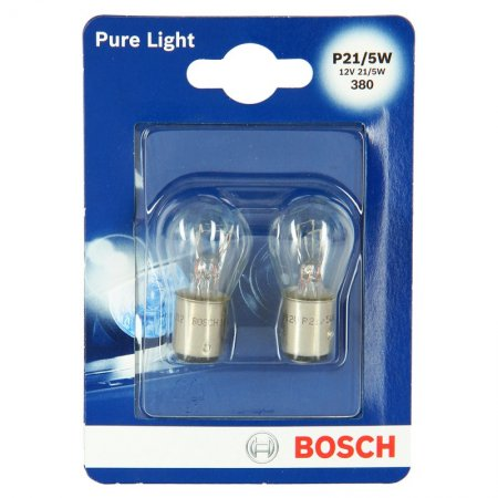 Bombillo Bosch Stop Pure Light P21/5 Blanco