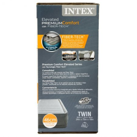 Colchón Inflable Twin Intex Gris
