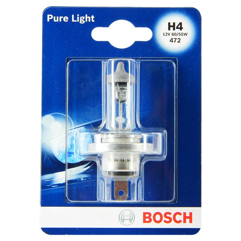 Bombillo Bosch Halogeno H4 Pure Light Plateado