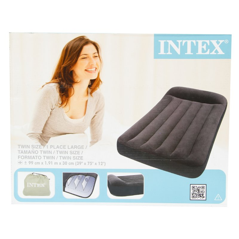 Colchón Inflable Twin Intex 66767 Negro
