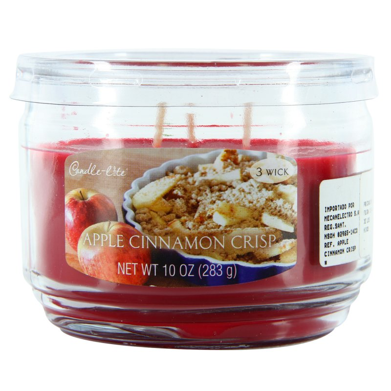 Vela Candle Lite 10 Oz Apple C Rojo